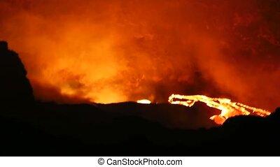 lava eruption - Flowing Molten Lava ,Volcano Erupting Magma...