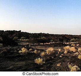 Lava fields around Erta Ale volcano, Danakil, Afar Ethiopia