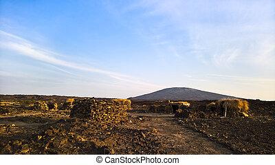 Lava fields around Erta Ale volcano, Danakil, Afar, Ethiopia