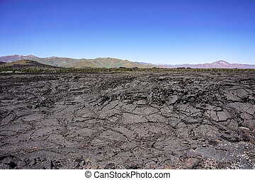Lava fields, Craters of the moon National Park, Idaho