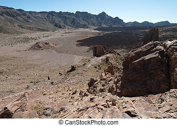 Lava fields in the Teide Park, Teneriffe, Spain