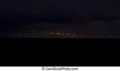Lava Fields Sunrise, Lapse, Hawaii - Sunrise shot in the...