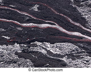 Lava flow at Hawaii Volcano