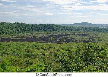 Lava flow in Nicaragua - Lava flow of the volcano Masaya in...