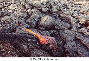 Lava flow on Big Island, Hawaii