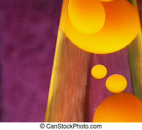 Lava Lamp - Lava lamp with yellow contents.