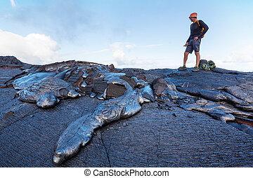 Lava - lava flow on Big Island, Hawaii
