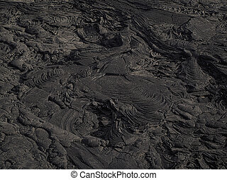 Lava patterns close to Erta Ale volcano, Ethiopia