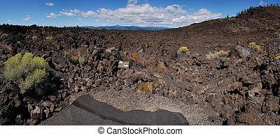 Lava rock landscape