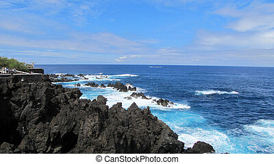 Lava-rock pools in Porto Moniz, Madeira, Portugal