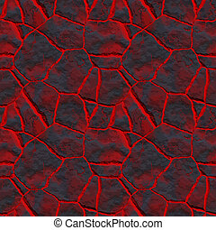 lava through the cracks - a large background texture of ...