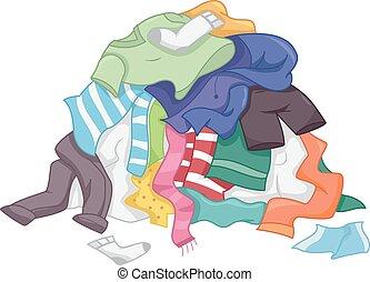 lavadero, pila, ropa