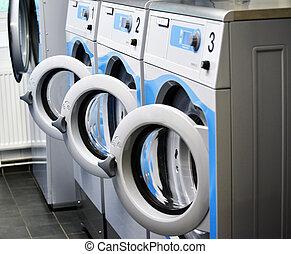 lavado, habitación, máquinas