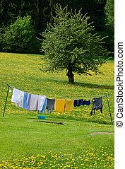 lavado, roupas