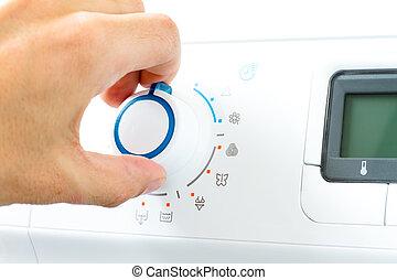 lavadora, aparato, esfera