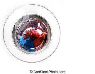 lavadora roupa, espaço cópia