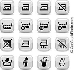 lavage, nettoyage, icônes