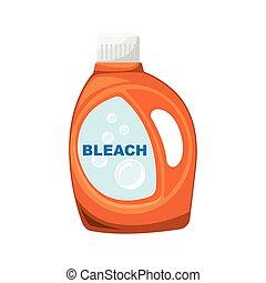 lavage, orange, décolorant, bottle.