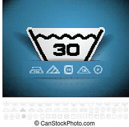 sec symboles ensemble lavage instruction blanchir illustration de stock recherchez. Black Bedroom Furniture Sets. Home Design Ideas