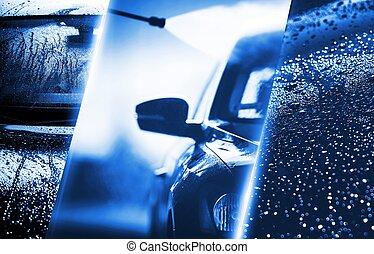 haute pression eau lavage voiture lavage laver voiture photographies de stock. Black Bedroom Furniture Sets. Home Design Ideas