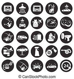 lavagem carro, ícone