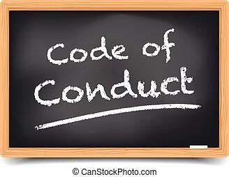 lavagna, codice, condotta