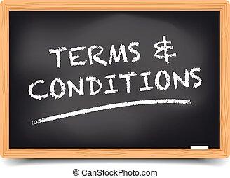 lavagna, condizioni, termini