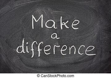 lavagna, fare, differenza, frase