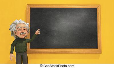 lavagna, insegnante, indicare