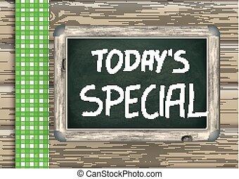 lavagna, legno, today's, speciale