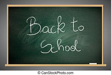 lavagna, scuola, indietro