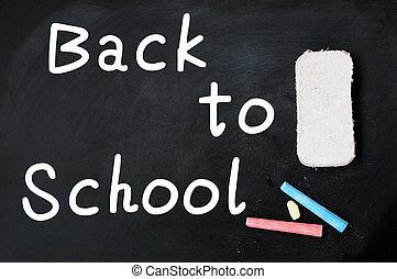 lavagna, scuola, indietro, scritto