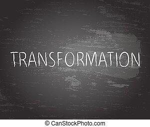 lavagna, trasformazione, testo
