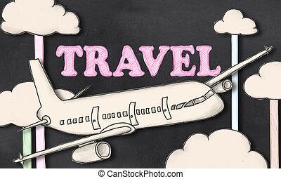 lavagna, viaggiare