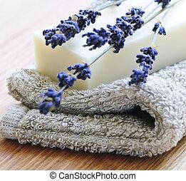 lavanda, jabón