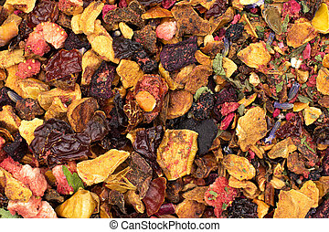 Lavander strawberry tea isolated