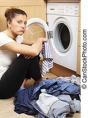 lavanderia, dona de casa