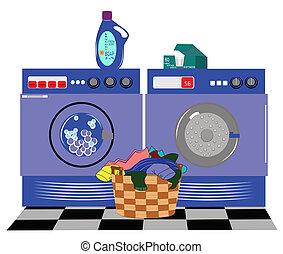 lavanderia, máquinas