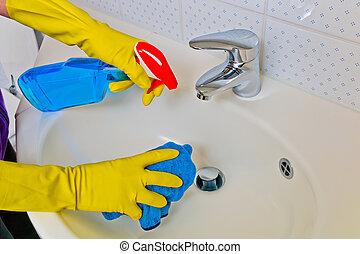 lavandino, pulito