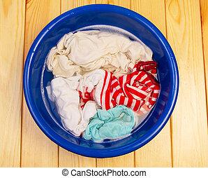 lavando, a, lavanderia, manual