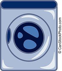 lavando, cor, ilustração, máquina, vetorial, ou