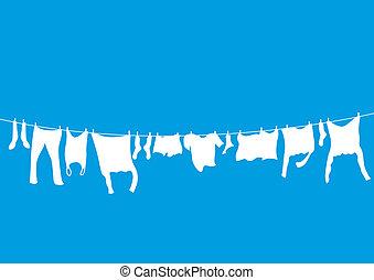 lavando, linhas