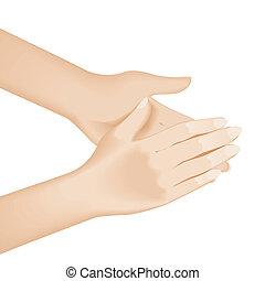 lavando, mão