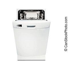 lavapiatti, moderno, isolato