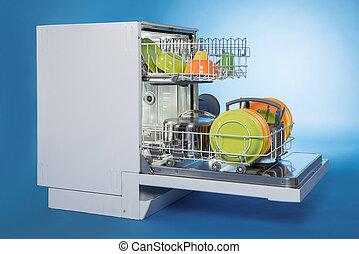 lavapiatti, pieno, utensili