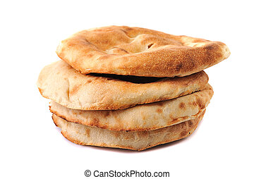 lavash - lavashes- flat unleavened wheat bread isolated on...