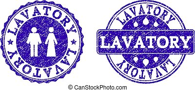 Lavatory Grunge Stamp Seals