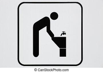 Pictogram of lavatory