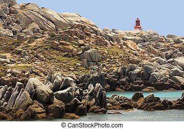 Lavazzi island coastline