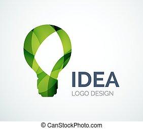 lavede, farve, lys, stykker, konstruktion, pære, logo